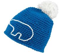 Jay Pompon Bommelmütze blau