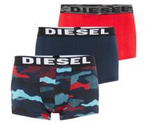 Pants im 3er-Pack 'Shawn' mischfarben / rot / schwarz