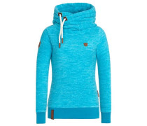Female Hoody Glitzermuschi IV blau