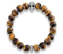 Armband 'Power Bracelet Totenkopf mit Lilie A1701-826-2'