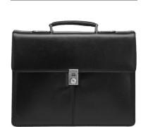 Aktentasche Leder 42 cm Laptopfach schwarz