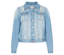 Jeansjacke Destroyed-Details blue denim