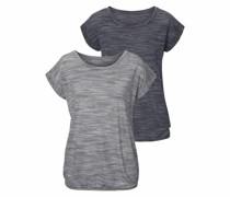 T-Shirts graumeliert / schwarzmeliert