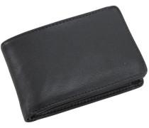 Eurojet Geldbörse Leder 10 cm schwarz