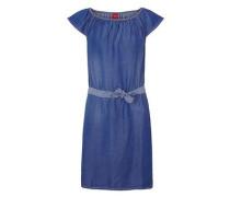 Jeanskleid mit Carmen-Ausschnitt blau