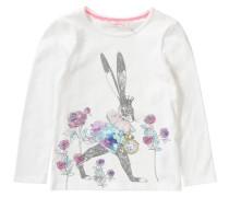 Langarmshirt mit Alice im Wunderland-Print für Mädchen weiß