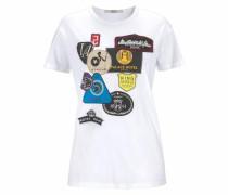 T-Shirt blau / gelb / rot / rotviolett / schwarz / weiß