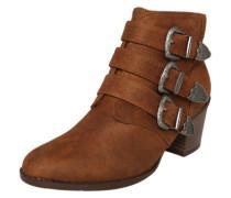 Ankle Boot 'Angela' mit Schnallen-Applikationen cognac