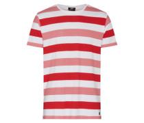 T-Shirt 'Patrick' rot / weiß