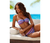 Bandeau-Bikini blau / pink