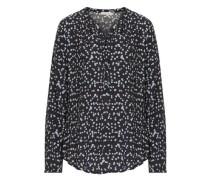 Bluse mit Punkten ultramarinblau / hellblau / schwarz