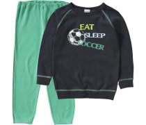 Schlafanzug Fußball grün