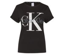 Shirt mit Label-Print schwarz