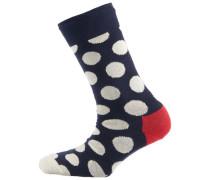 Socke 'big Dot' rot / schwarz / weiß