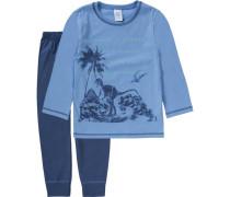 Schlafanzug für Jungen blau / hellblau / dunkelblau