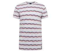 Shirt 'Petit Jaque ' rot / weiß