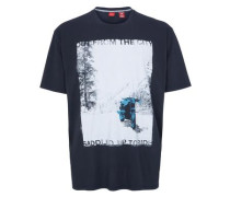 T-Shirt mit Fotoprint navy