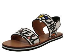 Sandale 'Letter' schwarz / weiß