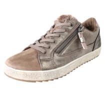 Sneaker mit Fell-Besatz bronze