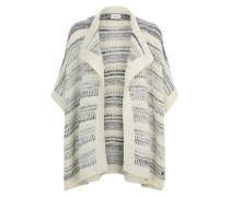 Poncho im Blanket-Stil weiß