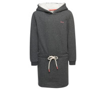 Kleid 'hooded Sweat Dress AF' dunkelgrau