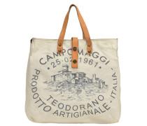 Biancospino Donna Shopper Tasche 35 cm beige