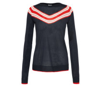Pullover 'vikarli Stripe' navy / rot / weiß
