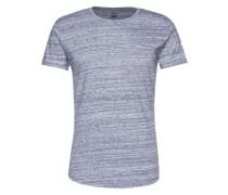 Meliertes T-Shirt 'Cimanolo' dunkelblau