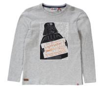 Langarmshirt 'star Wars' für Jungen graumeliert / orange / schwarz / naturweiß