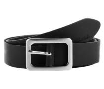 Ledergürtel 'soft vintage cow leather belt' schwarz