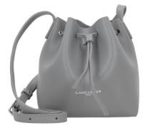 'Pur Smooth Mini Bag' Beutel Umhängetasche Leder 17 cm grau