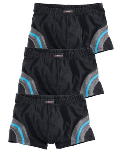 Packung: Boxer (3 Stck.) neonblau / graumeliert / schwarz