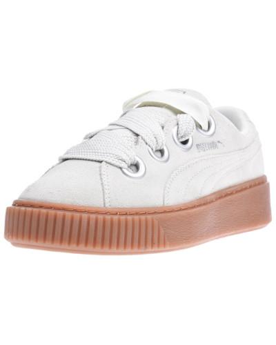 'Platform Kiss Suede' Sneaker weiß
