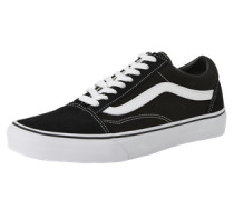 Sneaker Low 'old Skool' schwarz / weiß