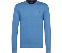 Pullover »Plaited CTN Silk C-Nk CF« himmelblau