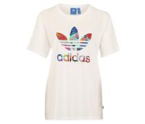 T-Shirt mit großem Logoprint weiß