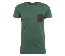 T-Shirt 'cn stripe pkt s' dunkelgrün