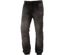 Slim Fit Jeans Herren schwarz