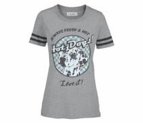 T-Shirt 'Hotdog' hellblau / graumeliert / schwarz / weiß