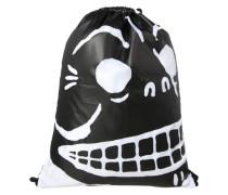 Turnbeutel 'Skull' schwarz / weiß