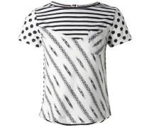 T-shirt Eastchester schwarz / weiß