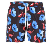 Badeshorts 'Banks Pattern Swim' navy / rot