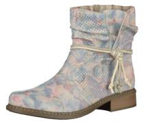 Boots mit floralem Print creme / pastellblau / pastellorange
