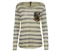 Streifen Shirt 'wls Jessy round' khaki