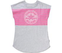T-Shirt graumeliert / rosa