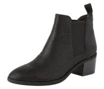 Leder-Chelsea Boots mit Allover-Print 'Yarin' schwarz
