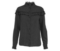 Bluse 'villy-Sh' schwarz / weiß