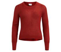 Strick-Bluse 'vinikita Knit Top' rot