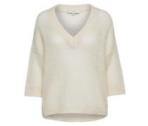 Mohairmix-Strickpullover weiß