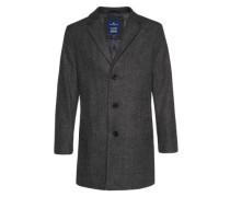 Mantel aus Wollgemisch schwarz